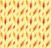 Modelo de las hojas de otoño Modelo inconsútil de la hoja linda del vector Abstra Imagenes de archivo