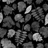 Modelo de las hojas de otoño de la acuarela libre illustration
