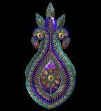 Modelo de las lentejuelas paisley Piña Clip art del vector stock de ilustración
