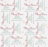 Modelo de las letras de la Feliz Navidad y de la Feliz Año Nuevo Ilustración del vector stock de ilustración