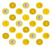 Modelo de las monedas Fotografía de archivo