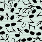 Modelo de las notas musicales Imagen de archivo libre de regalías