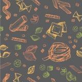 Modelo de las pastas Imagen de archivo