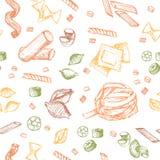Modelo de las pastas Imagen de archivo libre de regalías