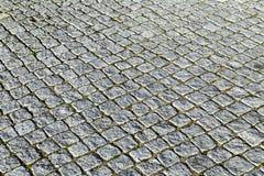 Modelo de las piedras del adoquín en el paveway Imagenes de archivo