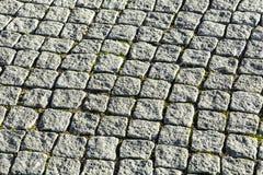 Modelo de las piedras del adoquín en el paveway Imagen de archivo libre de regalías