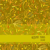 Modelo de las ramitas Fondo de oro del otoño con diseño de la tira Lugar del texto Fotografía de archivo libre de regalías
