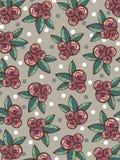 Modelo de las rosas y de las hojas de la vendimia Imagen de archivo libre de regalías