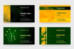 Modelo de las tarjetas de visita Imagen de archivo