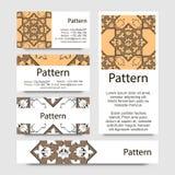 Modelo de las tarjetas de visita con el ornamento islámico de Marruecos Foto de archivo