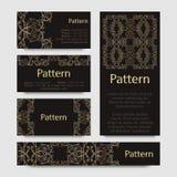 Modelo de las tarjetas de visita con el ornamento islámico de Marruecos Imagen de archivo libre de regalías