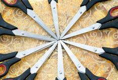 Modelo de las tijeras (decoración) Imágenes de archivo libres de regalías