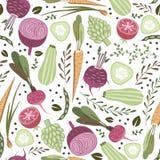 Modelo de las verduras stock de ilustración