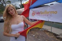 Modelo de Leonora Jimenez una elección 2014 del activista Fotografía de archivo