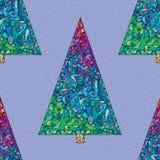 Modelo de los árboles de navidad Fondo inconsútil de la Feliz Año Nuevo Textura elegante de las vacaciones de invierno para el pa Fotos de archivo