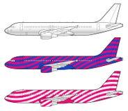 Modelo de los aviones de Boeing ilustración del vector
