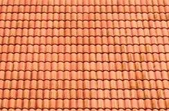 Modelo de los azulejos de azotea rojos imagen de archivo libre de regalías