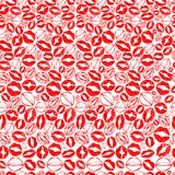 Modelo de los besos para el día del ` s de la tarjeta del día de San Valentín del St ilustración del vector