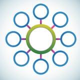 Modelo de los círculos de color de la presentación Imagenes de archivo