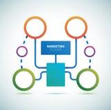 Modelo de los círculos de color de la presentación Imágenes de archivo libres de regalías