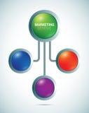 Modelo de los círculos de color de la presentación Imagen de archivo libre de regalías