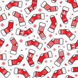 Modelo de los calcetines de la Navidad libre illustration