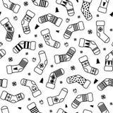 Modelo de los calcetines de la Navidad stock de ilustración