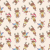 Modelo de los ciervos de la Navidad Foto de archivo libre de regalías