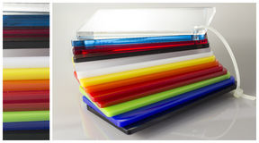 Modelo de los colores Plexiglás Fotos de archivo libres de regalías