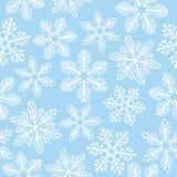 modelo de los copos de nieve ilustración del vector