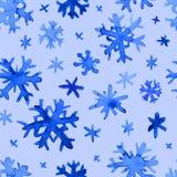 Modelo de los copos de nieve de la acuarela Imágenes de archivo libres de regalías