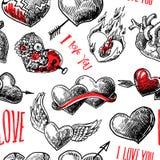 modelo de los corazones Imagen de archivo
