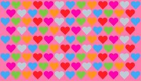 modelo de los corazones Foto de archivo libre de regalías