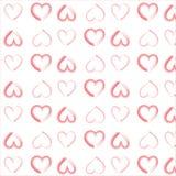 Modelo de los corazones de la acuarela Fotografía de archivo
