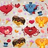 Modelo de los corazones de las tarjetas del día de San Valentín Fotos de archivo libres de regalías