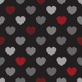 Modelo de los corazones de semitono Fotos de archivo libres de regalías