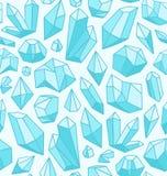 Modelo de los cristales stock de ilustración