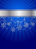 Modelo de los cristales de la nieve ilustración del vector