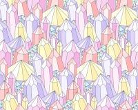 Modelo de los cristales de la fantasía ilustración del vector