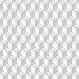 Modelo de los cubos blancos en perspectiva isométrica Foto de archivo libre de regalías