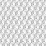 Modelo de los cubos blancos en perspectiva isométrica Fotografía de archivo