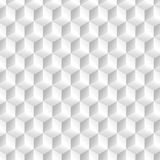 Modelo de los cubos blancos en perspectiva isométrica Imagen de archivo libre de regalías
