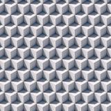 Modelo de los cubos blancos en perspectiva isométrica Imágenes de archivo libres de regalías
