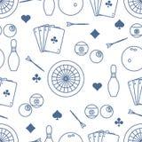 Modelo de los deportes Dardos, billares, bolos, tarjetas stock de ilustración