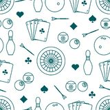 Modelo de los deportes Dardos, billares, bolos, tarjetas libre illustration