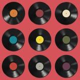 Modelo de los discos de vinilo Fotografía de archivo