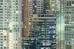 Modelo de los edificios de oficinas de Windows Imágenes de archivo libres de regalías