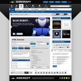 Modelo de los elementos del diseño de Web Foto de archivo