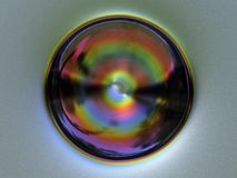 Modelo de los fractales de la esfera del arco iris Imagen de archivo libre de regalías