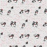 Modelo de los gatos y de los corazones gatos divertidos de la textura Foto de archivo